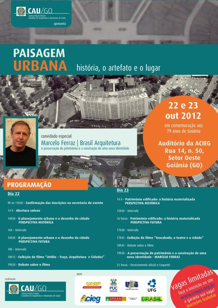 Evento discute paisagem urbana