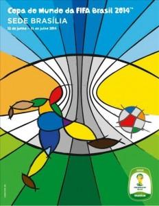 Cartaz de Brasilia para Copa