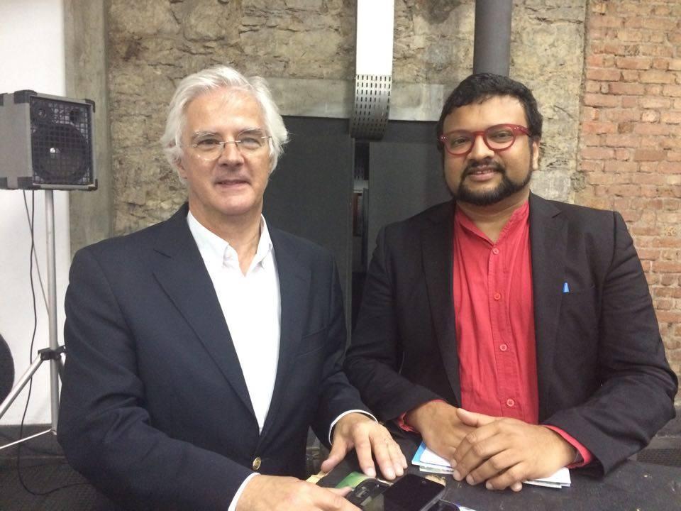 Presidente da Ordem dos Arquitetos de Portugal, João Santa-Rita com o presidente do Cialp, Rui Leão.