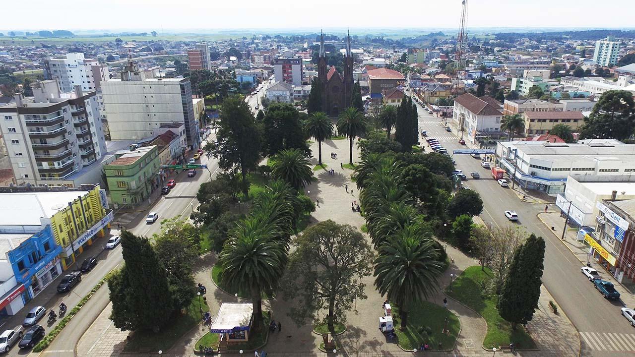 Vacaria (RS). Imagem tirada com drone.
