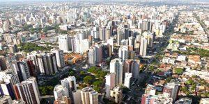 Plano Geral da cidade de Curitiba (PR).
