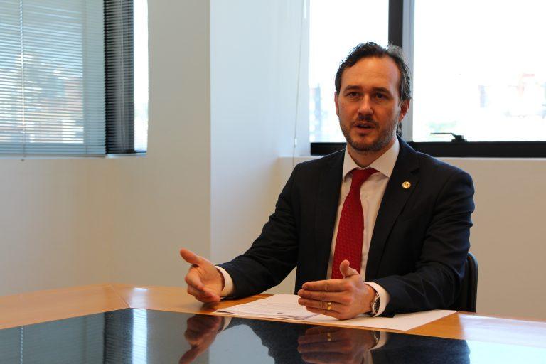 Deputado estadual, também arquiteto e urbanista, Vinicius Ribeiro.
