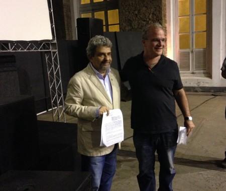 Presidente do CAU/RJ, Jerônimo de Moraes, e presidente do IAB-RJ, Pedro da Luz Moreira, assinam 2ª etapa do convênio para organização do UIA2020RIO