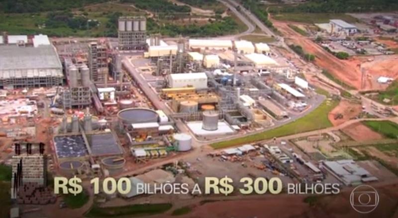 """Edição do """"Fantástico"""" do último domingo (04/06) abordou corrupção em obras (Foto: TV Globo/Captura)"""