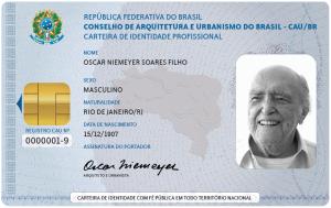 Carteira profissional de arquiteto e urbanista é válida como documento de identificação em todo o território nacional (Foto: CAU/BR)