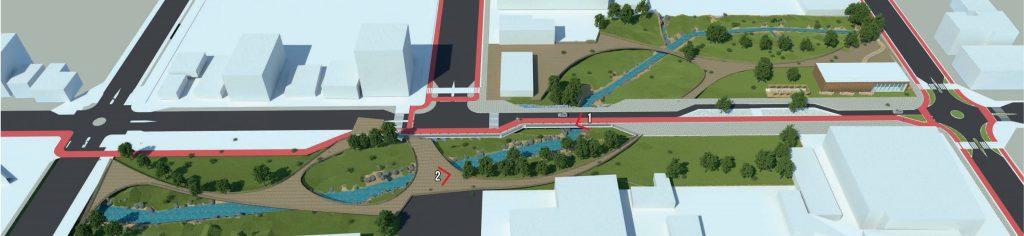 Projeto vencedor nacional propôs reabertura de trechos canalizados de rio (Imagem: ABAP)