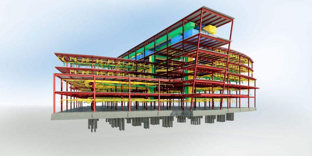 Projeção feita em plataforma BIM (Fonte: Conaz)