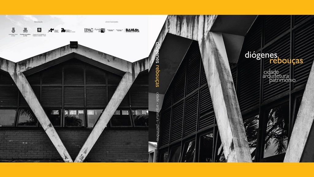 """Capa do catálogo da exposição """"Diógenes Rebouças: cidade, arquitetura e patrimônio"""""""