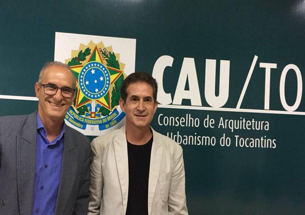 Silenio Camargo, presidente do CAU/TO, e Luis Hildebrando Paz, vice-presidente