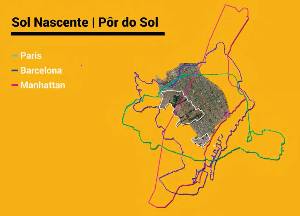 Sol Nascente e Pôr do Sol, na região de Ceilândia - segunda maior favela do país