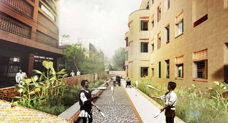 Projeto de habitação popular para o assentamento 20 de Novembro, em Porto Alegre, tema da quarta reportagem da série