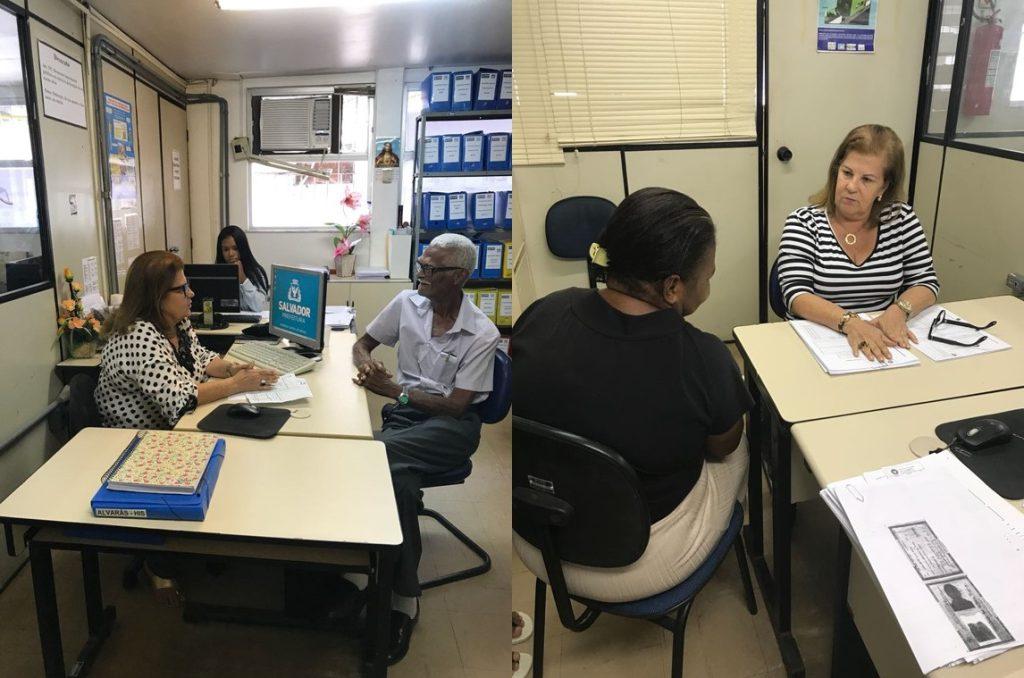 Assistente social Régia Barretto faz triagem dos interessados: atendimento dos critérios da Lei de Assistência Técnica é obrigatório