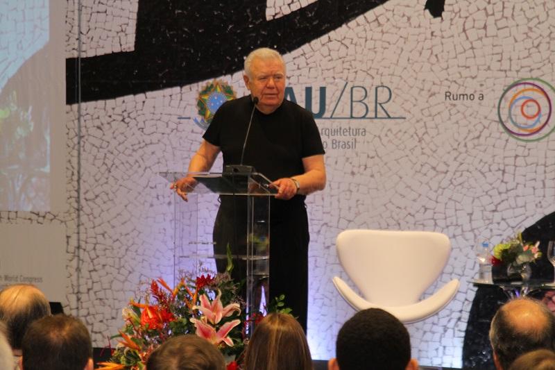 Jaime Lerner na II Conferência Nacional de Arquitetura e Urbanismo, em 2017 (Foto: CAU/BR)