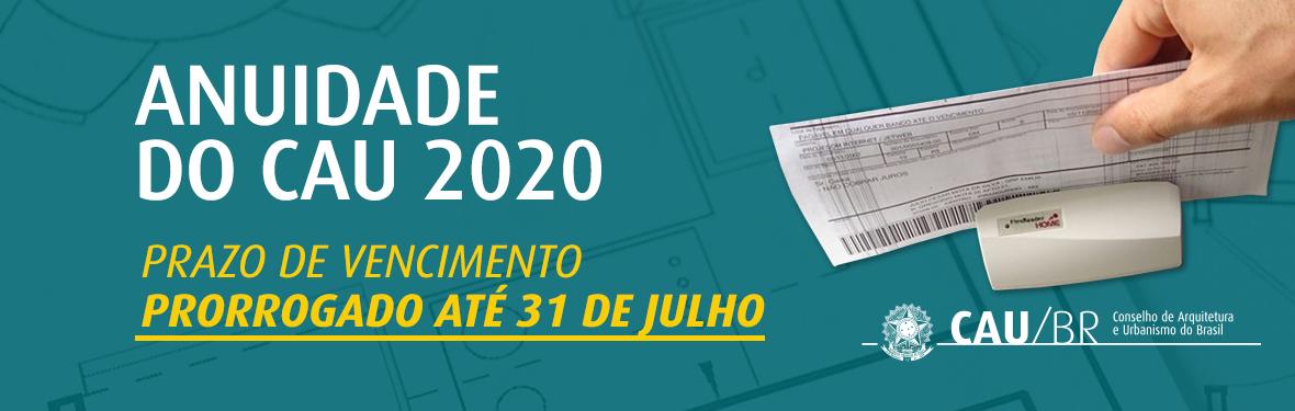 ANUIDADE DO CAU 2020